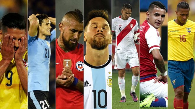 Sudamerica Fuera del mundial.